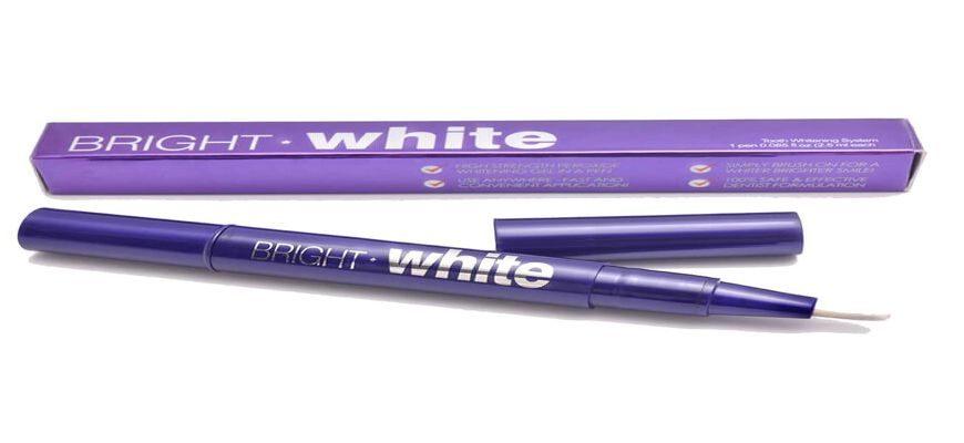 Как пользоваться карандашом для отбеливания зубов bright white